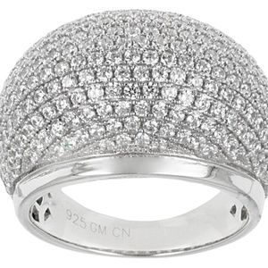Jewelry - Cubic Zirconia Silver Ring 4.11ctw